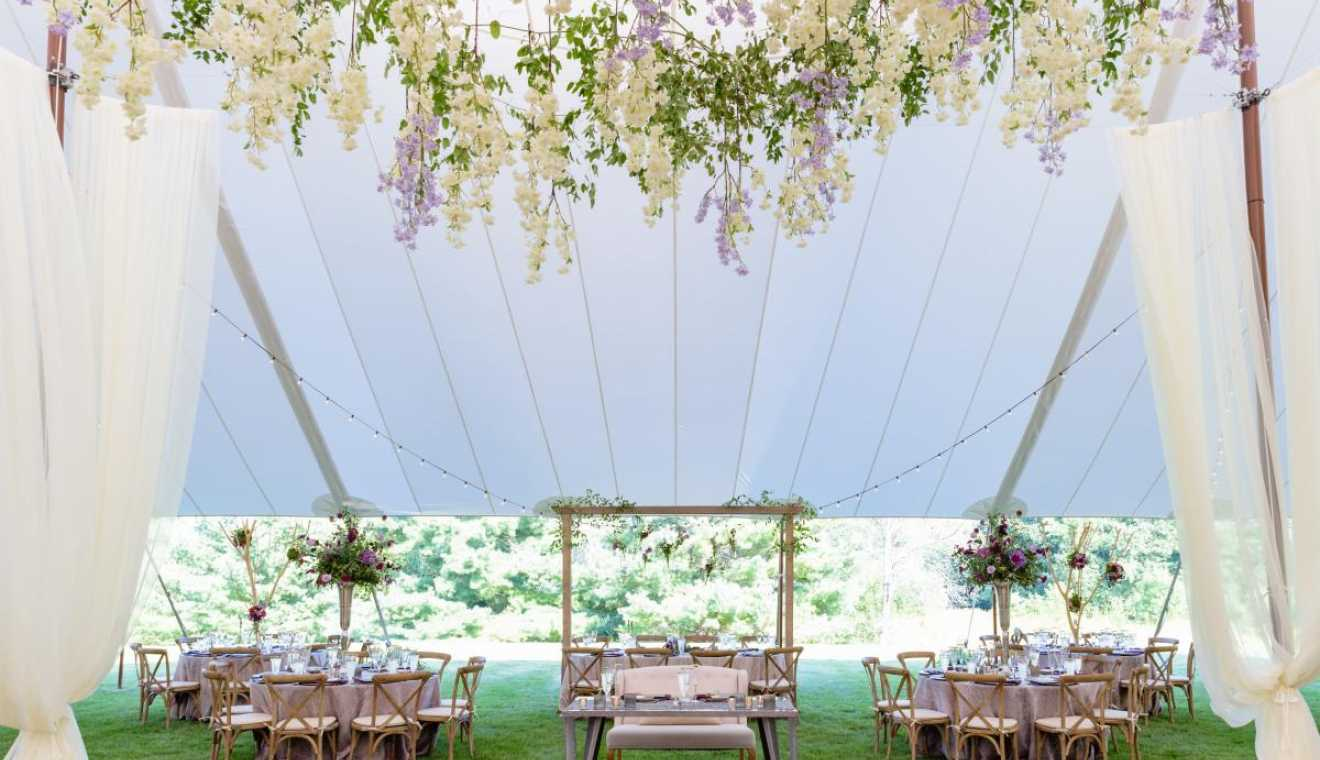 AAYS Event Rentals Sailcloth Tented Wedding