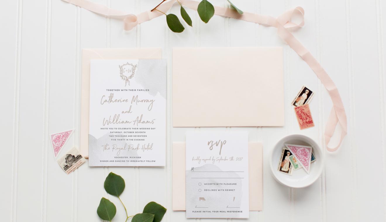 Grey + Blush Suite by Amanda McKey Designs