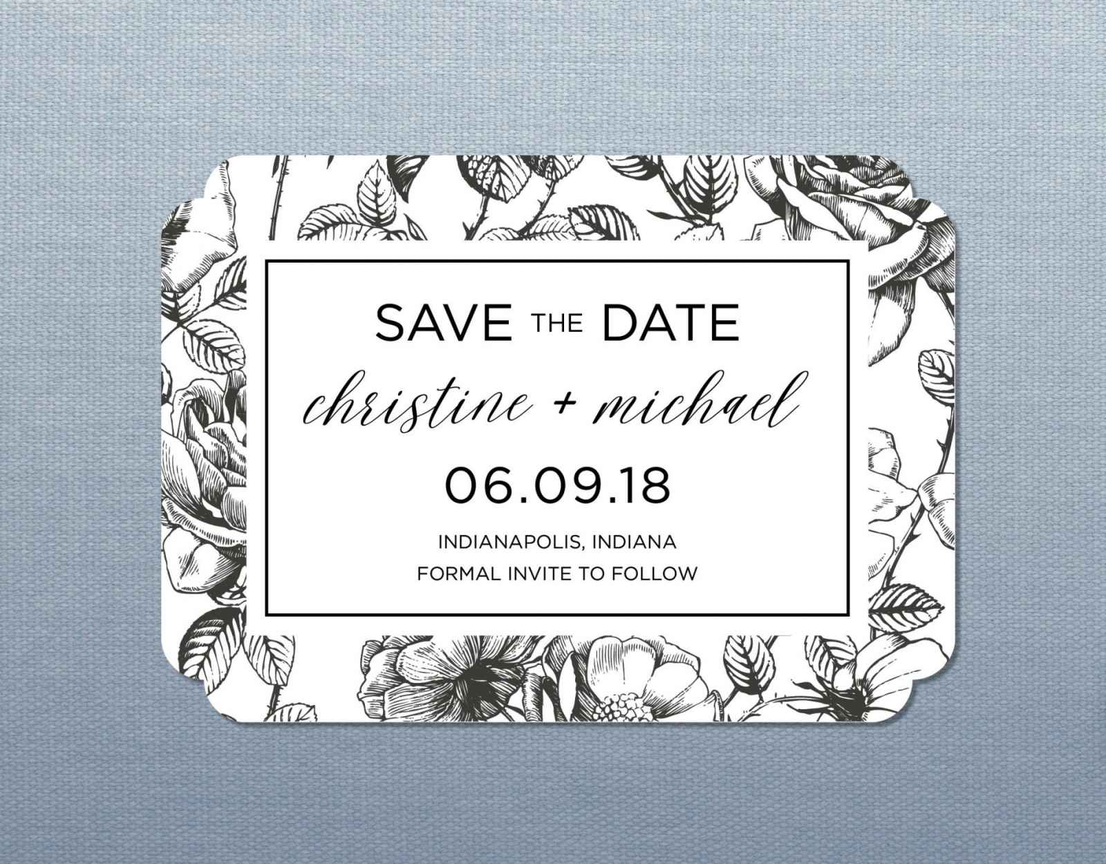 Wedding stationery basics save the dates weddingday magazine also since save the dates are still a somewhat new idea it will help all your guests understand that this is not the formal invitation stopboris Choice Image