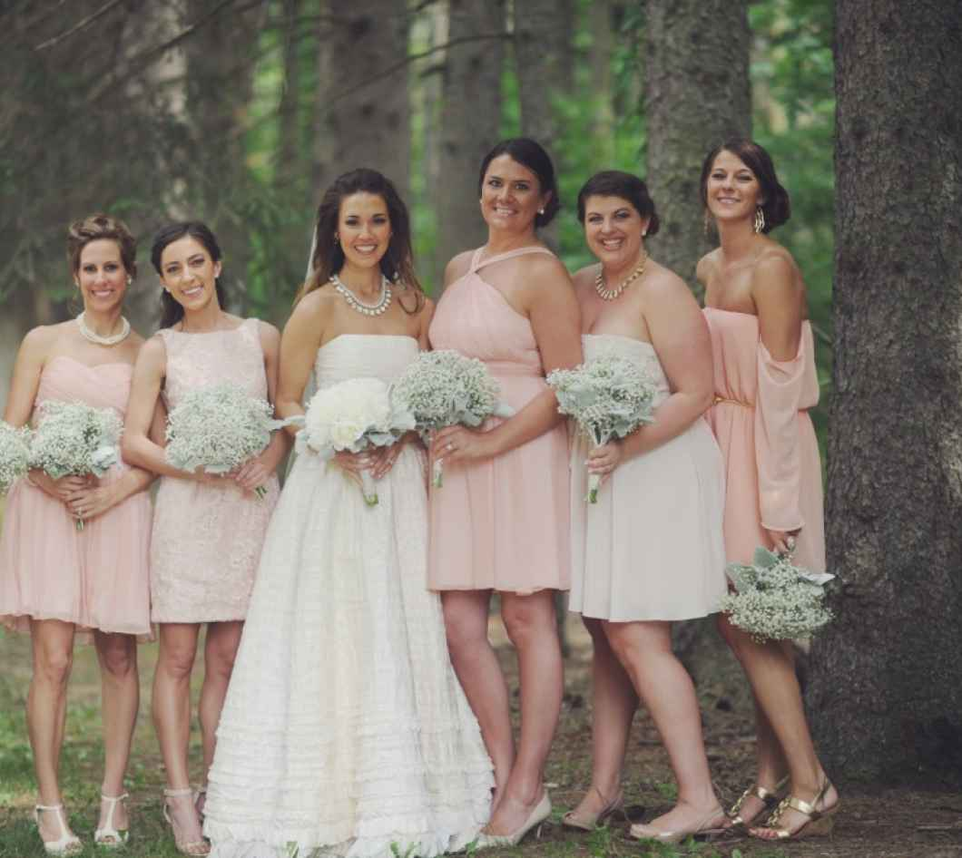 Make your bridesmaids stand out with mismatched dresses bridesmaids in the woods four bridesmaids ombrellifo Choice Image