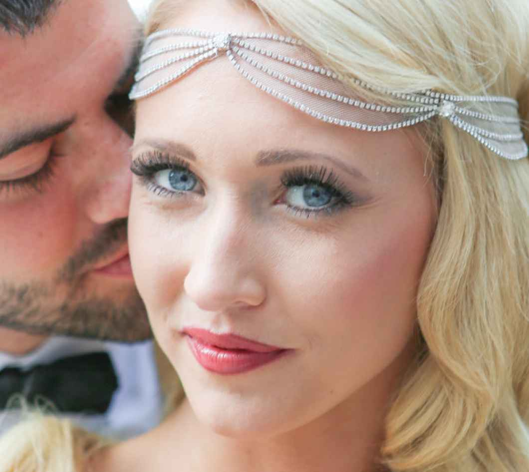 gorgeous makeup on bride