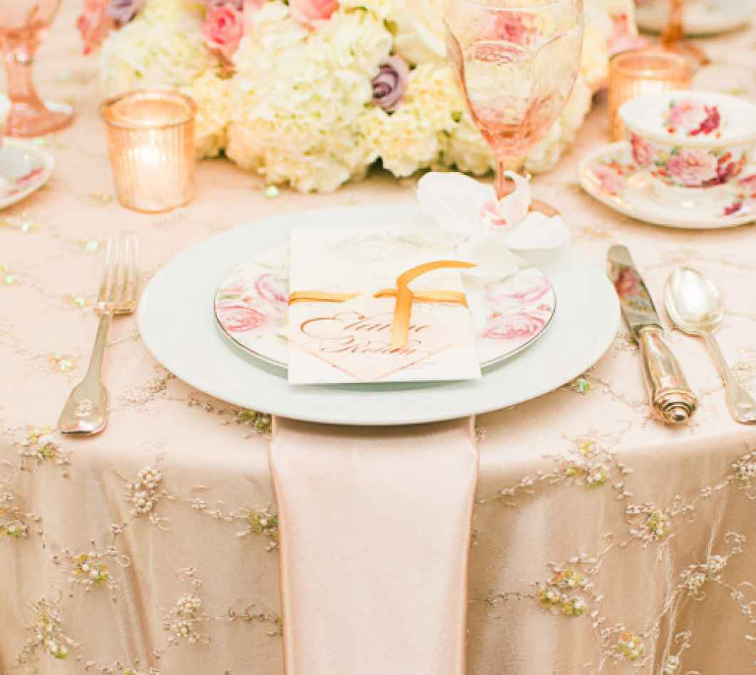 plate on beautiful tablescape