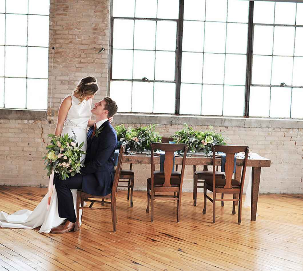 Grand Rapids Wedding Rentals: Industrial Meets Vintage In This Style Shoot