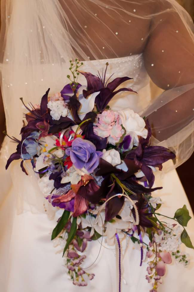 Bouquet With Various Shades of Purple
