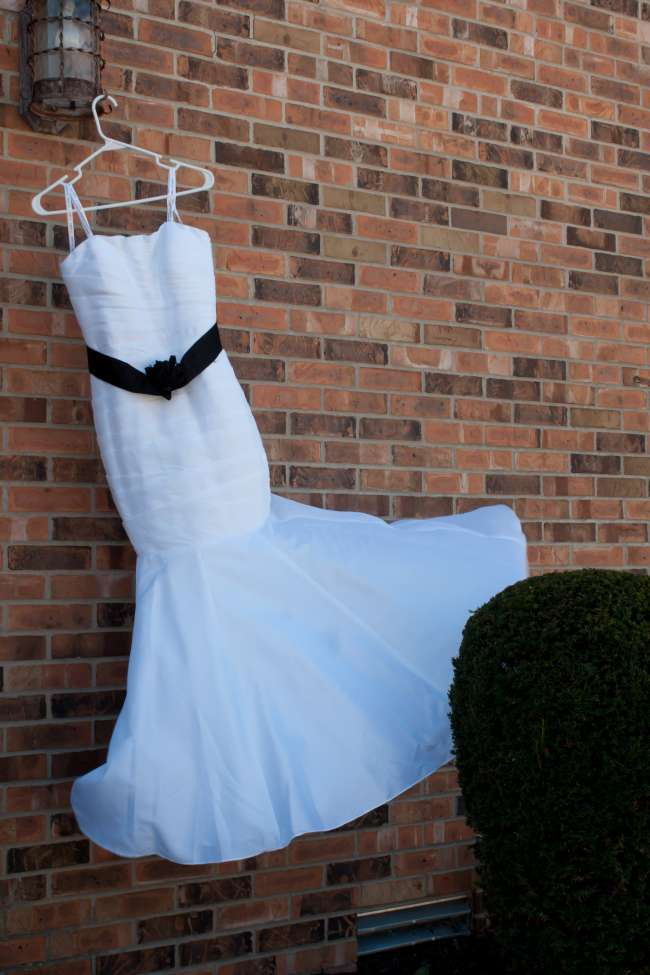 The Brides Dress Flowing in the Wind