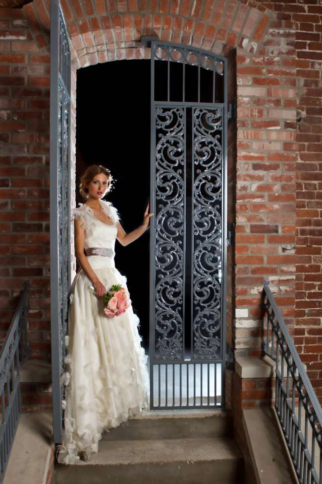 Bride in a Dramatic Venue