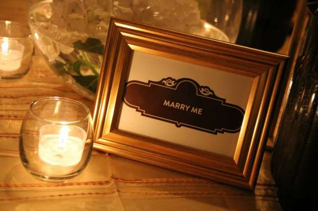 """Marry Me"" Sign"