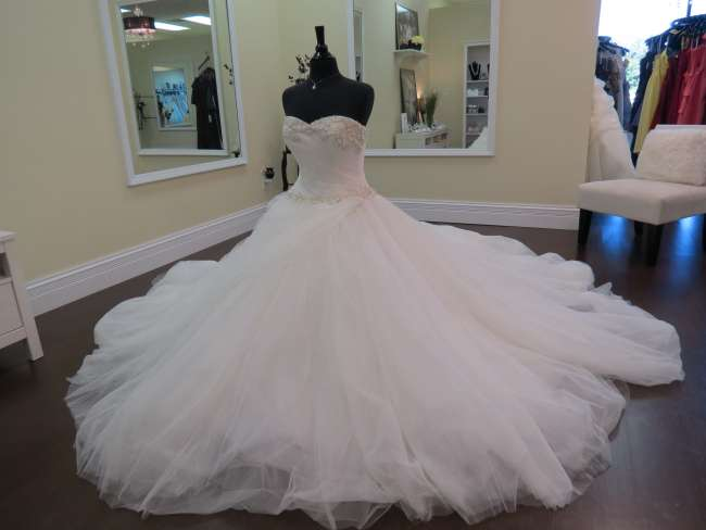 Elegant ballroom wedding dress