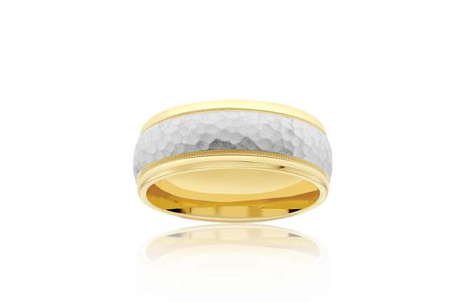 Two-Toned, Textured Wedding Band