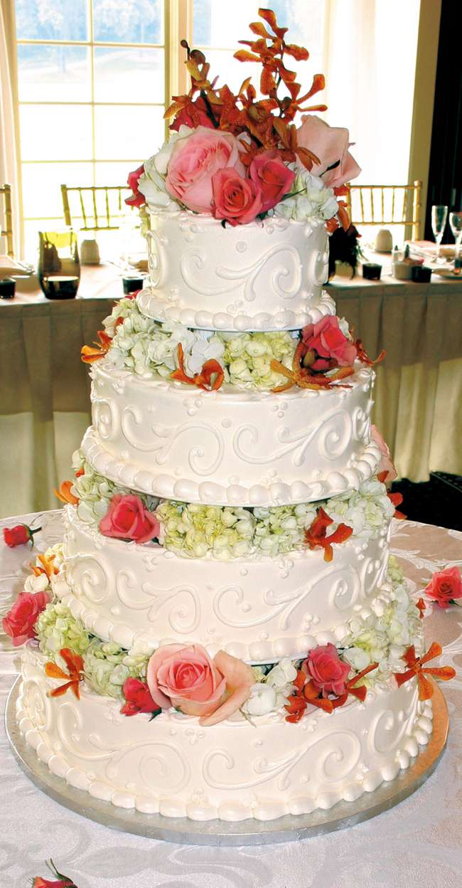 4-Tiered Buttercream Wedding Cake