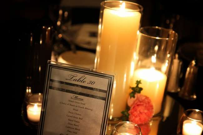 Table Number & Candles