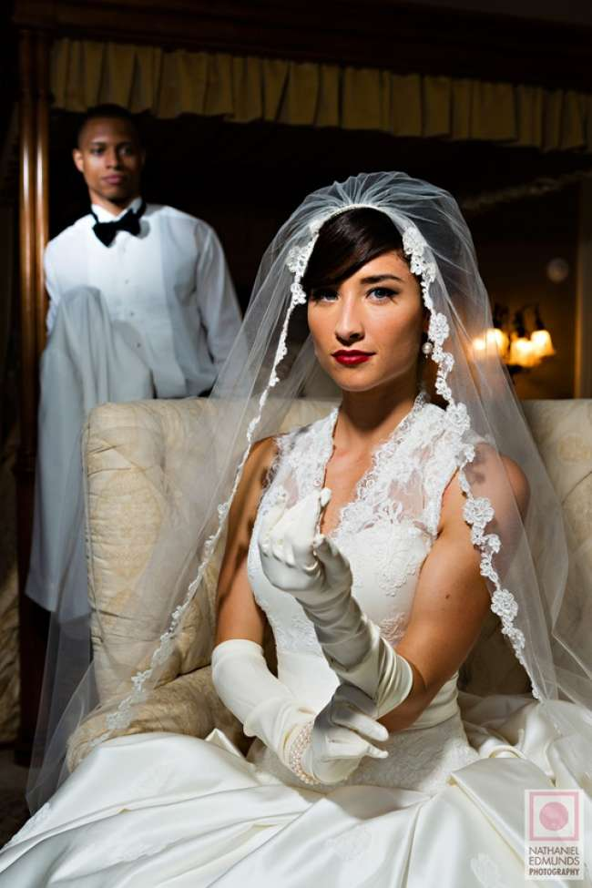 Gorgeous draping veil