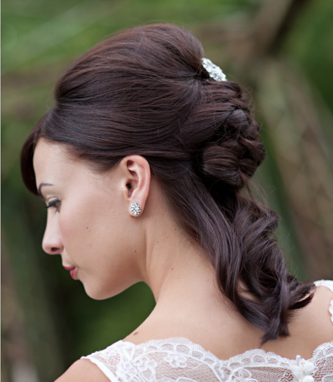 Relaxed Half Updo