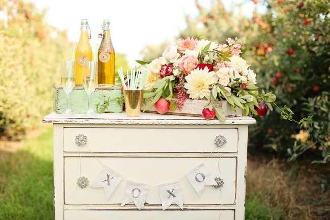 Mimosa Bar on Vintage Dresser