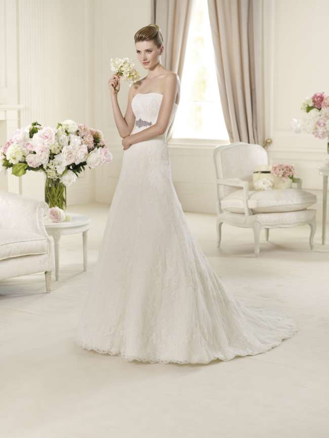 La Sposa lace a-line gown