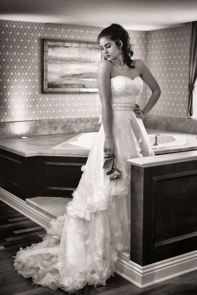 Bride in Romantic Suite