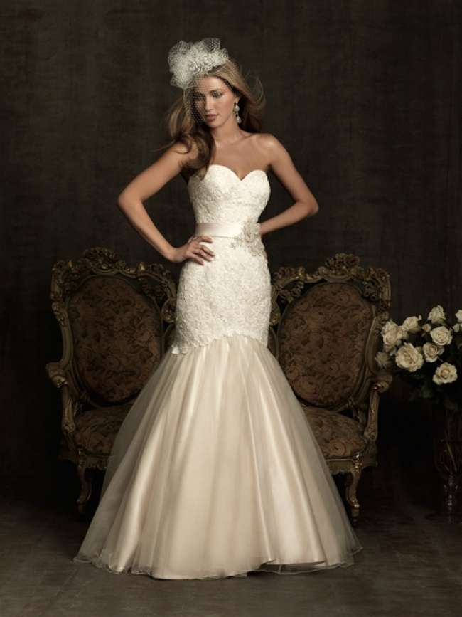 Allure Bridal Strapless Gown