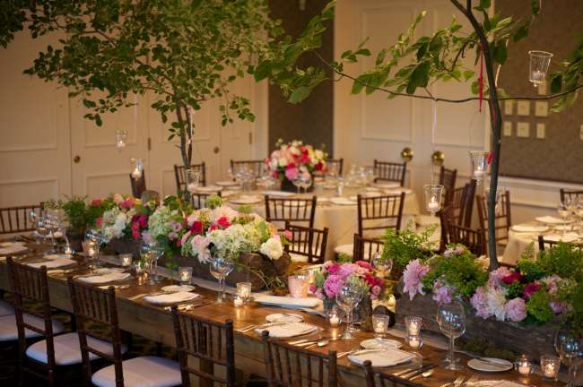 Nature-Inspired Reception Decor