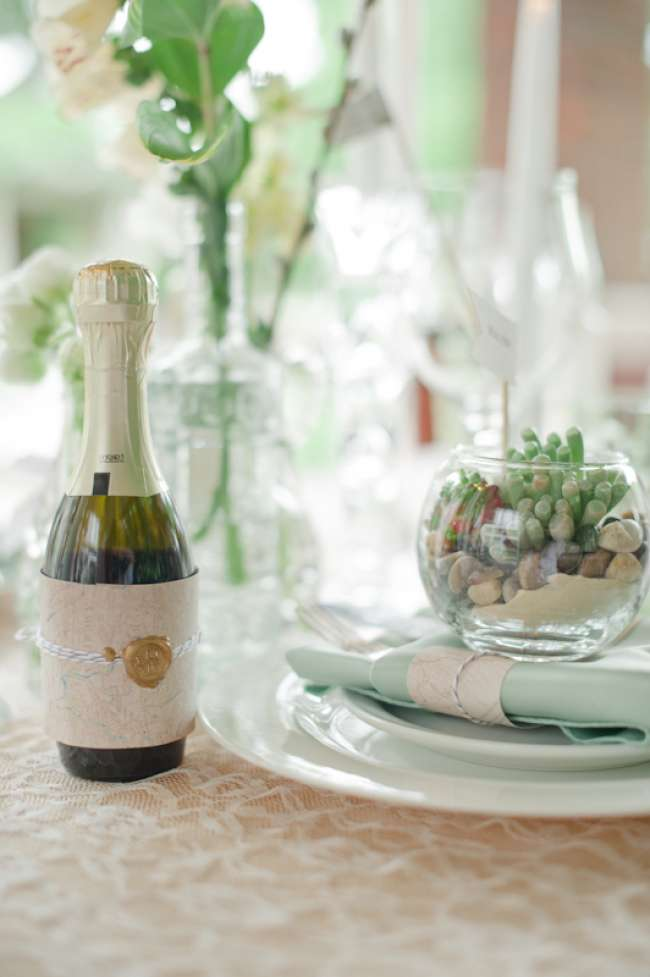 Vintage tablescape detail