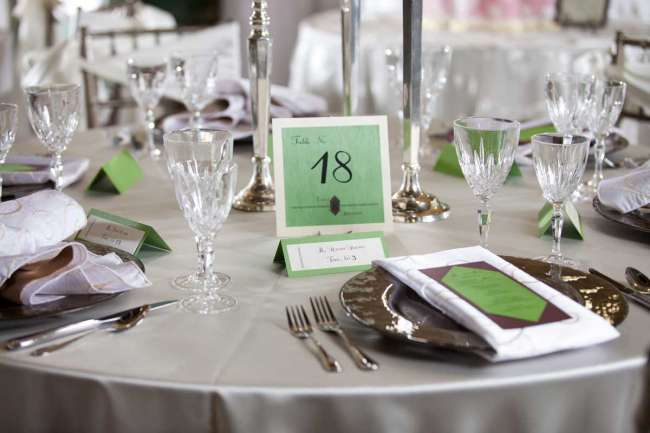 Table Number on Reception Table