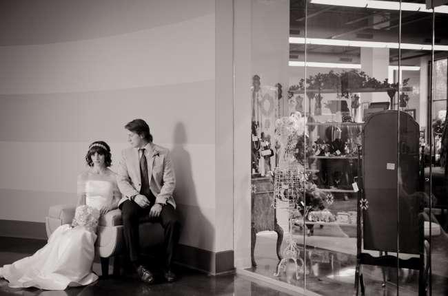 Bride & Groom at Indiana Design Center