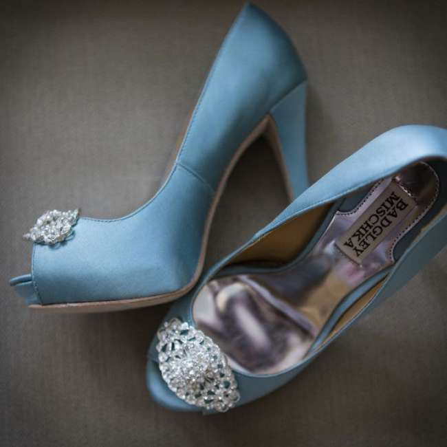 Blue Badgley Mischka Heels