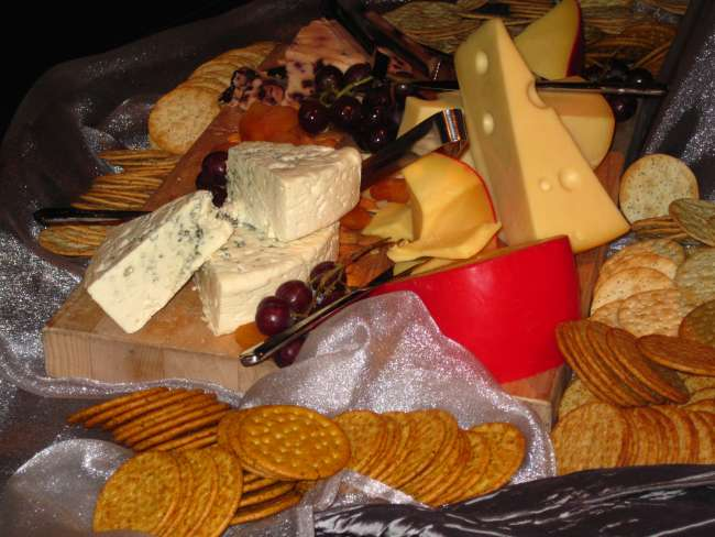 Cheese display at a wedding reception