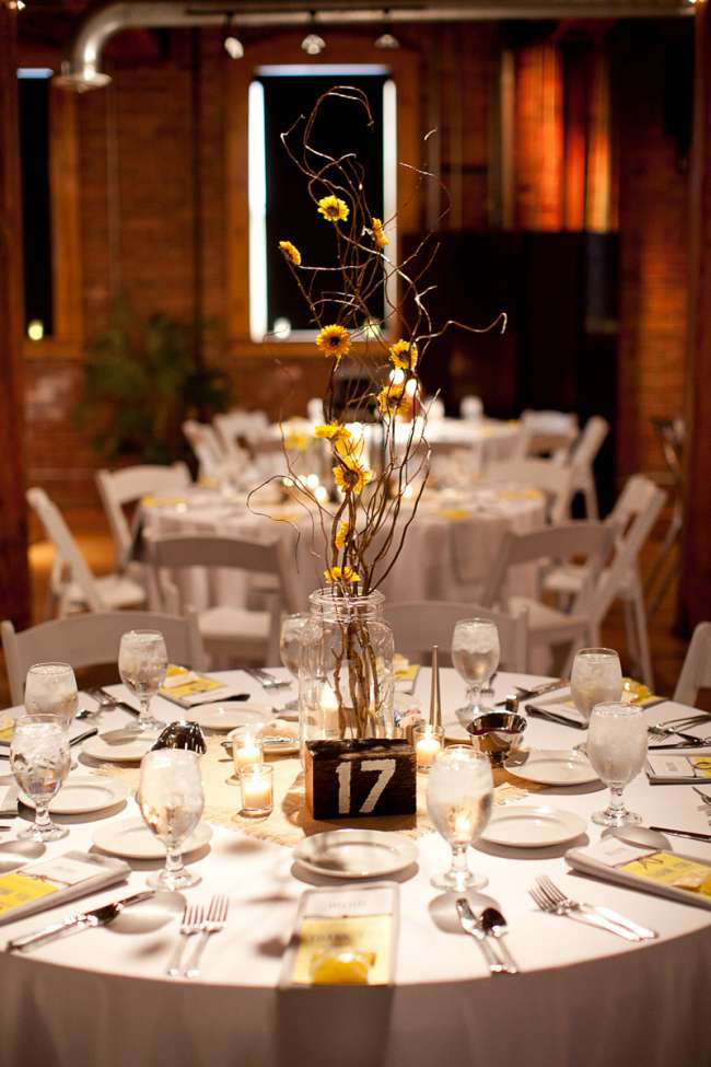 Yellow Rustic Centerpieces