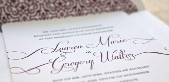 Letterpress Patterned Invitation