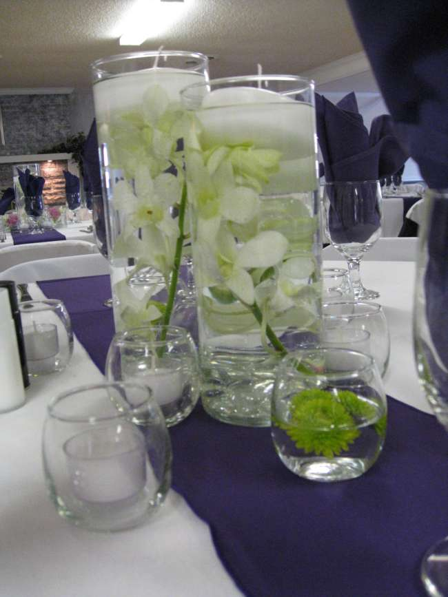 Floral & Floating Candle Centerpieces