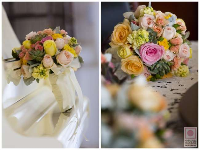 Pink, Peach & Yellow Bouquets