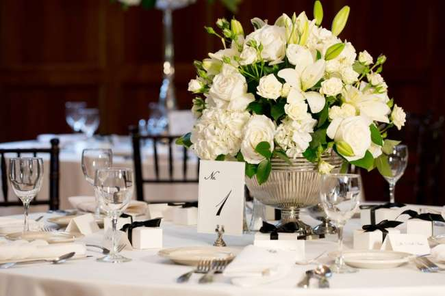 Elegant Centerpiece & Table Number
