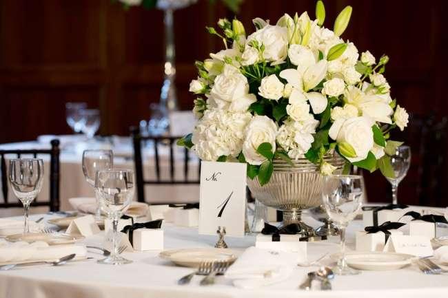 Elegant Centerpiece & Table Number