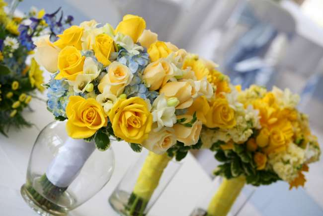 Yellow and Blue Bouquet