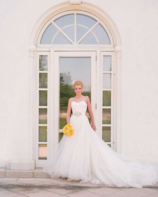 Bride with Yellow Bouquet
