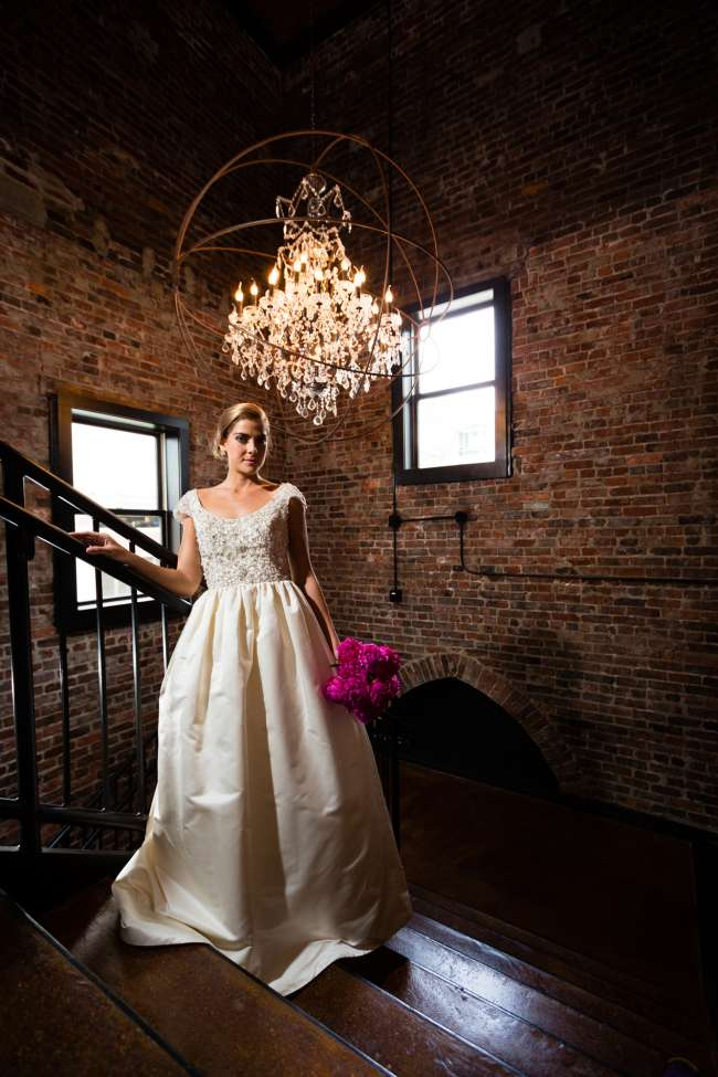 Glamourous Bride in Industrial Venue