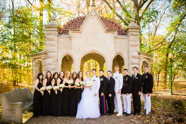 Bridal Party at the Rose Well House at IU