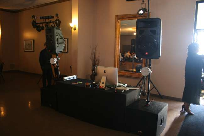 DJ set up at reception