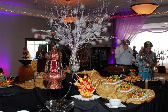 Mardi Gras buffet table