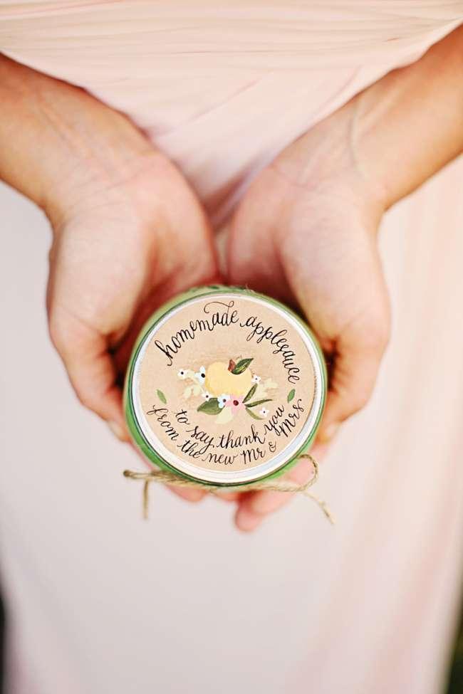 Homemade Applesauce Wedding Favors Weddingday Magazine