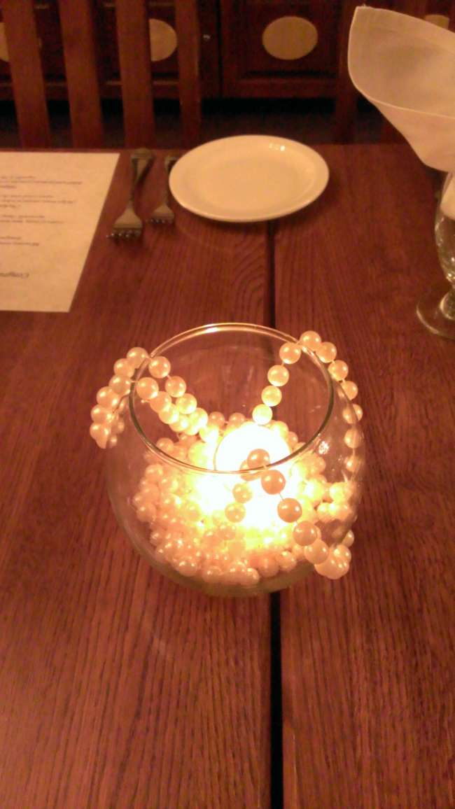 Simple Globe & Pearl Centerpiece