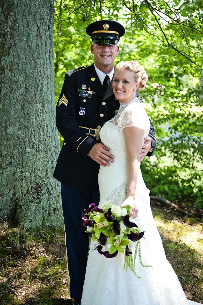 A Military Bride and Groom