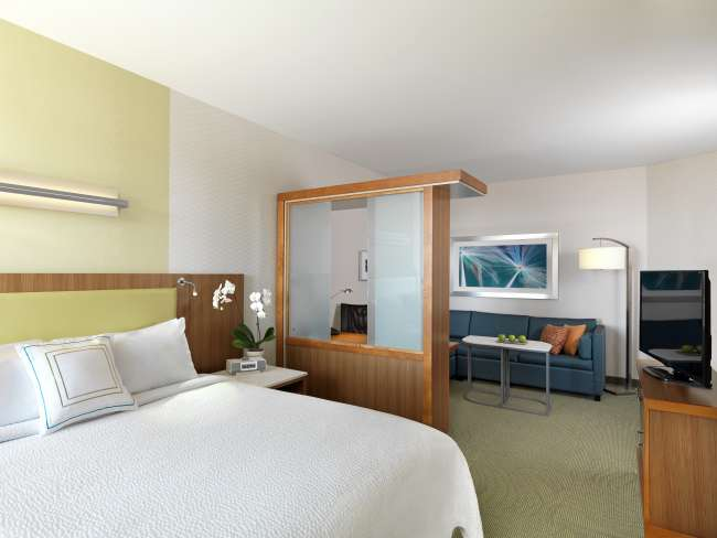 Bedroom & Living Area at Springhill Suites by Marriott Bloomington