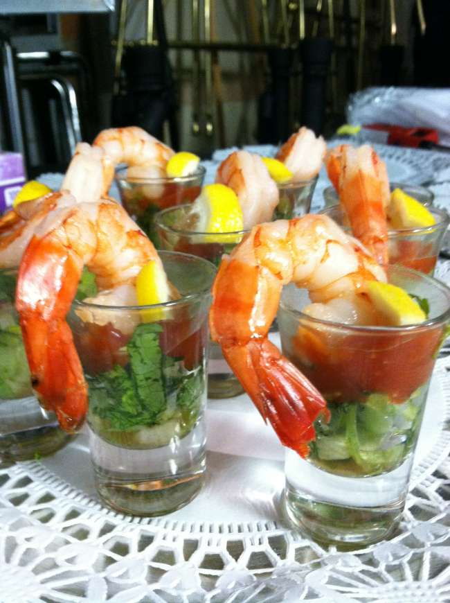 Shrimp Shooter Hors D'oeuvres