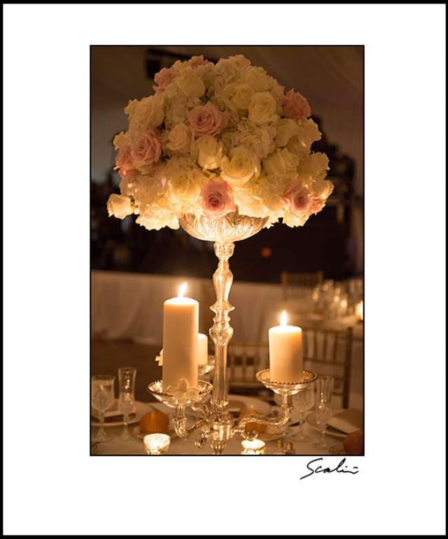 Tall Centerpiece with Candles