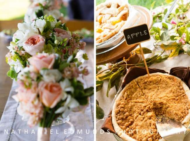 Apple pie and country flowers