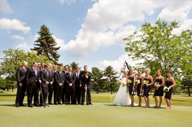 Fore! Bridal Party on the Greens