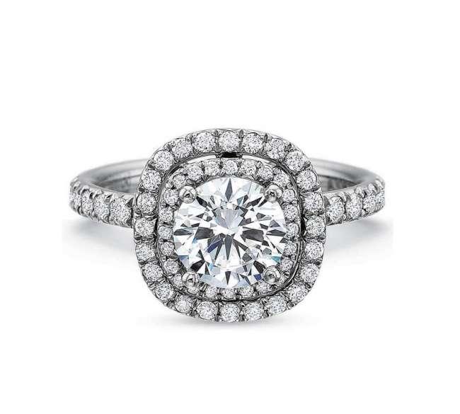 Round, Black Diamond Engagement Ring
