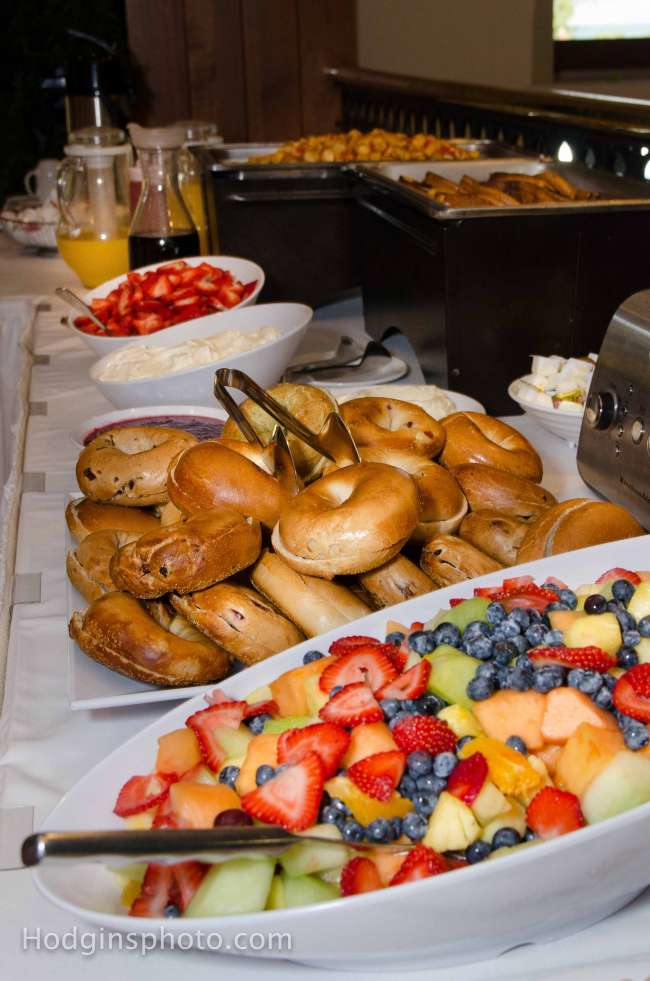 A Delicious Brunch Buffet for a Morning Wedding