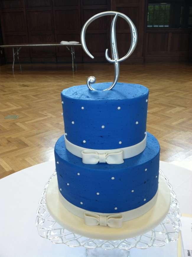 Blue Polka Dot Cake